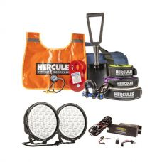 "Essential 9"" Driving Light Pack + Hercules Complete Recovery Kit"