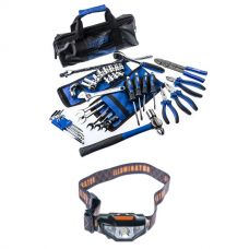 Adventure Kings Essential Bush Mechanic Toolkit + LED Head Torch