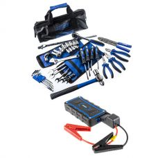 Adventure Kings Essential Bush Mechanic Toolkit + 1000A Lithium Jump Starter