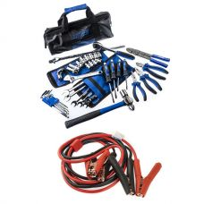 Adventure Kings Essential Bush Mechanic Toolkit + 750A Jumper Leads