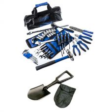 Adventure Kings Essential Bush Mechanic Toolkit + 4WD Folding Shovel