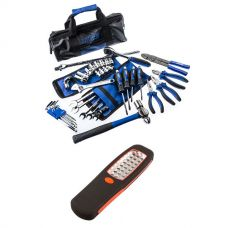 Adventure Kings Essential Bush Mechanic Toolkit + Illuminator 24 LED Work Light
