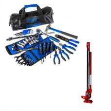 "Adventure Kings Essential Bush Mechanic Toolkit  + Hercules 48"" Offroad Jack"