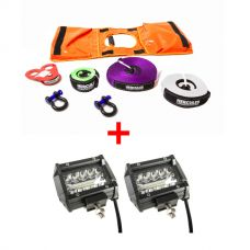 "Hercules Essential Nylon Recovery Kit + Adventure Kings 4"" LED Light Bar"