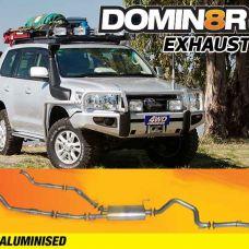 Domin8r Aluminised Exhaust Suitable For Toyota Landcruiser VDJ200R 4.5L V8 Twin Turbo 11/2007-07/2015 (Turbo Back)