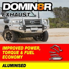 Domin8r Aluminised Exhaust Suitable For Toyota Landcruiser 200 Series 4.5L V8 Twin Turbo 8/2015 Onwards (DPF Back)