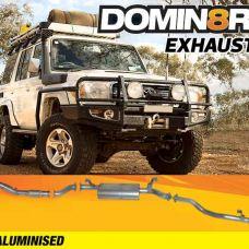 Domin8r Aluminised Exhaust Suitable For Toyota Landcruiser VDJ76R 4.5L V8 Wagon 2007-2016 (Turbo Back)