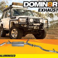 Domin8r Aluminised Exhaust Suitable For Toyota Landcruiser 76 4.5L V8 Wagon 2017+ (DPF Back)