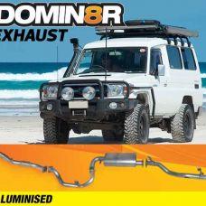 Domin8r Aluminised Exhaust Suitable For Toyota Landcruiser VDJ78R 4.5L V8 Troop Carrier 2007-2016 (Turbo Back)
