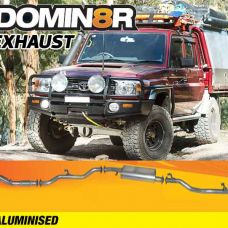 Domin8r Aluminised Exhaust Suitable For Toyota Landcruiser VDJ79R 4.5L V8 4 DR Cab Chassis 2007-2016 (Turbo Back)