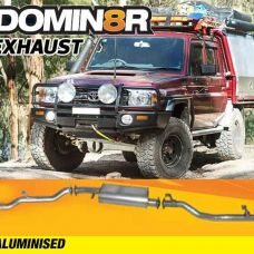 Domin8r Aluminised Exhaust Suitable For Toyota Landcruiser 79 4.5L V8 2 & 4 DR Cab Chassis 2017+ (DPF Back)