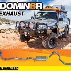 Domin8r Aluminised Exhaust Suitable For Nissan Patrol GU 3.0L WAGON 2000+ (inc COMMON RAIL) (Turbo Back)