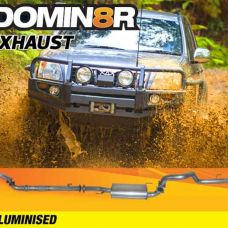 Domin8r Aluminised Exhaust Suitable For Toyota Prado 120 & 150 D4D 1KD-FTV 3.0L 11/2006+ (Turbo Back)