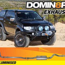 Domin8r Aluminised Exhaust Suitable For Mitsubishi Triton MN 2.5L All Bodies 2010-2014 (Turbo Back)