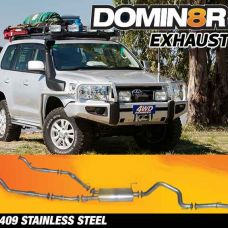 Domin8r Stainless Steel Exhaust Suitable For Toyota Landcruiser VDJ200R 4.5L V8 Twin Turbo 11/2007-07/2015 (Turbo Back)