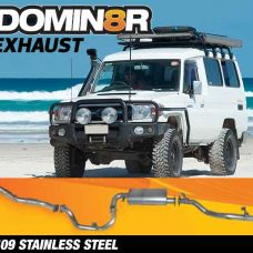 Domin8r Stainless Steel Exhaust Suitable For Toyota Landcruiser VDJ78R 4.5L V8 Troop Carrier 2007-2016 (Turbo Back)