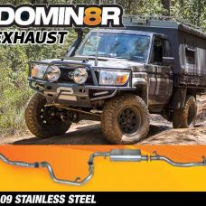 Domin8r Stainless Steel Exhaust Suitable For Toyota Landcruiser VDJ79R 4.5L V8 2 DR Cab Chassis 2007-2016 (Turbo Back)