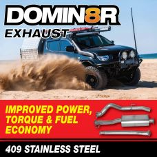Domin8r Stainless Steel Exhaust Suitable For Mitsubishi Triton MQ-MR 2.4 LITRE All Bodies 2015 ONWARDS (DPF Back System)