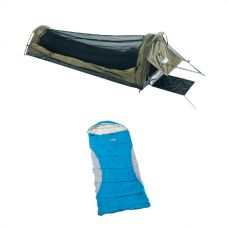 Adventure Kings Single Swag Kwiky + Kids Sleeping Bag -2°C