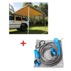 Adventure Kings Awning 2.5x2.5m + Adventure Kings Portable Shower Kit