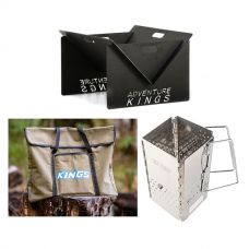 Adventure Kings Portable Steel Fire Pit + Fire Pit Canvas Bag + Charcoal Starter