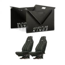 Kings Portable Steel Fire Pit + Heavy Duty Seat Covers