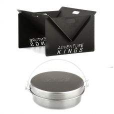 Kings Portable Steel Fire Pit + Bedourie Camp Oven