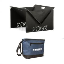 Adventure Kings Portable Steel Fire Pit + Kings 8L Cooler Bag