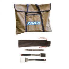 Kings Portable Fire Pit Bag + BBQ Tools