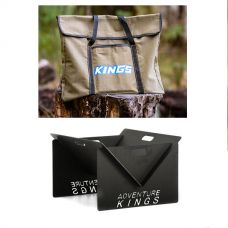 Adventure Kings Portable Steel Fire Pit + Fire Pit Canvas Bag