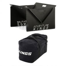 Kings Portable Steel Fire Pit + 40L Duffle Bag