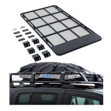 Steel Flat Rack suitable for 100/105 Series LandCruiser + Half-Length Premium Waterproof Rooftop Bag