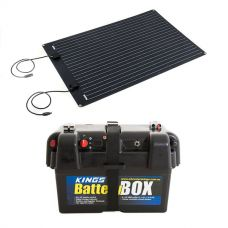 Adventure Kings 110W Semi-Flexible Solar Panel + Battery Box