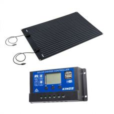 Adventure Kings 110W Semi-Flexible Solar Panel + 15A PWM Solar Controller
