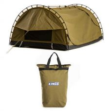 Adventure Kings Big Daddy Canvas Shell & Poles + Doona/Pillow Canvas Bag
