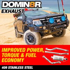 Domin8r Stainless Steel Exhaust Suitable for Mazda BT50 UP-UR Ford Ranger PX-PXII 2.2 LITRE All Bodies 2011-07/2016