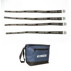 Kings 8L Cooler Bag + Fridge Tie Down Straps (4 pack)