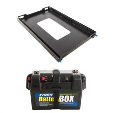 Adventure Kings Titan 100L Fridge Slide + Kings Battery Box Portable