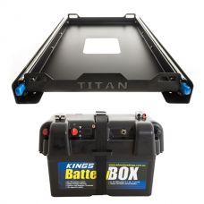 Titan 60L Fridge Slide + Kings Battery Box Portable