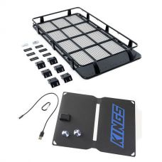 Full Length Steel Roof Racks + Adventure Kings 10W Portable Solar Kit