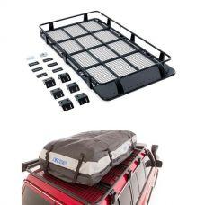 Full Length Steel Roof Racks + Adventure Kings Premium Waterproof Roof Top Bag