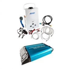 Kings Portable Gas Hot Water System + Adventure Kings 1500W Inverter