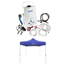 Kings Portable Gas Hot Water System + Adventure Kings Gazebo 3m x 3m