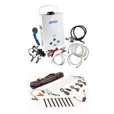 Kings Portable Gas Hot Water System  + Adventure Kings Illuminator 4 Bar Camp Light Kit