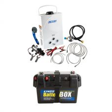 Kings Portable Gas Hot Water System + Adventure Kings Battery Box