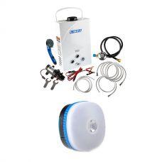 Kings Portable Gas Hot Water System + Mini Lantern