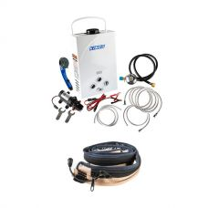 Kings Portable Gas Hot Water System + LED Strip Light