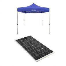 Adventure Kings - Gazebo 3m x 3m + 160w Fixed Solar Panel
