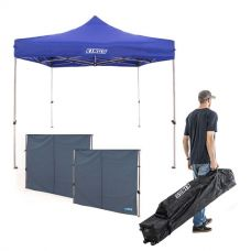 Adventure Kings - Gazebo 3m x 3m + 2x Adventure Kings Gazebo Side Wall + 3x3m Wheeled Gazebo Bag