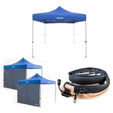 Adventure Kings - Gazebo 3m x 3m + 2x Gazebo Side Wall + Adventure Kings LED Strip Light